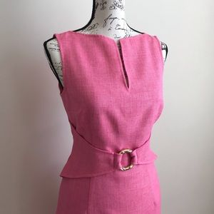 David Meister Sheath Midi Dress